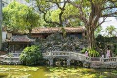 juan Lin ogródu i dworu Rodzinny celowniczy widok, Lili basenu widoku widok Obraz Royalty Free