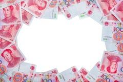 Juan lub RMB, Chińska waluta - środek przestrzeń Zdjęcie Stock