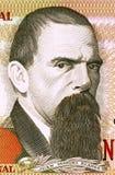 Juan Manuel Blanes. (1830-1901) on 2000 Nuevos Pesos 1989 Banknote from Uruguay. Uruguayan painter of the Realist school Stock Photos