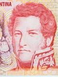 Juan Manuel de Rosas-portret Royalty-vrije Stock Foto