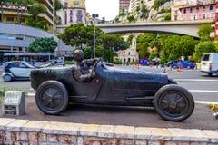 Juan Manuel Fangio Statue in La Condamine, Monte-Carlo, Monaco, Cote d `Azur, French Riviera royalty free stock images