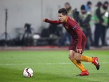 Juan Manuel Iturbe. Arevalos, player of AS Roma, pictured during the Europa League match against Astra Giurgiu, 0-0 the final score Royalty Free Stock Photography