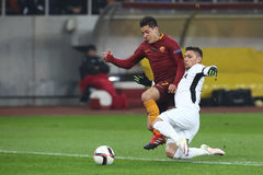 Juan Manuel Iturbe. Arevalos, player of AS Roma, pictured during the Europa League match against Astra Giurgiu, 0-0 the final score Royalty Free Stock Photo
