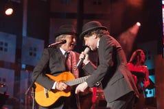 Juan manuel Serrat  and Juaquin Sabina  tour 2012 Stock Image