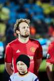 Juan Mata Attacking midfielder in match 1/8 finals of the Eur. Opa League between FC `Rostov` and `Manchester United`, 09 March 2017 in Rostov-on-Don, Russia Stock Images