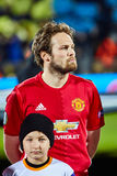 Juan Mata Attacking midfielder in match 1/8 finals of the Europa League. Between FC `Rostov` and `Manchester United`, 09 March 2017 in Rostov-on-Don, Russia Stock Images
