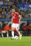 Juan Mata Champion League FC Brügge - Manchester United Lizenzfreie Stockbilder