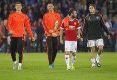 Juan Mata Champion League FC Brügge - Manchester United Lizenzfreie Stockfotos
