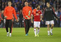 Juan Mata Champion League FC Brujas - Manchester United Fotos de archivo libres de regalías