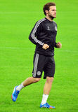 Juan Mata durante o treinamento oficial da liga de campeões de UEFA Foto de Stock Royalty Free