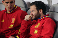 Juan Mata. Juan Manuel Mata Garcia midfielder of the Spanish National Football Team, pictured before the friendly match between Romania and Spain, played at Cluj royalty free stock photo