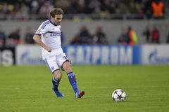 Juan Mata. Player of Chelsea London pictured during the Uefa Champions League game between his team and Steaua Bucharest (Romania). Chelsea won the match, 4-0 royalty free stock photos