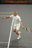 Juan McEnroe en acciones Imagen de archivo libre de regalías