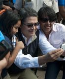 Juan Orlando Hernández, President of Honduras. Juan Orlando Hernández Alvarado, current president of Honduras, taking `selfies` with the people. One of the stock photography