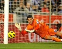 Juan Pablo Colinas of Sporting Gijon Stock Images