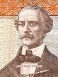 Juan Pablo Duarte-portret Royalty-vrije Stock Foto's