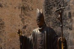 Juan Pablo II. Sculpture of Juan Pablo II, the Pope royalty free stock photo