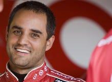 Juan Pablo Montoya in de garage Stock Foto's