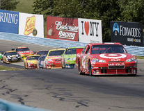 Juan Pablo Montoya leads the pack of cars Royalty Free Stock Photos