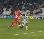 Juan Quero da liga Córdova do fósforo contra Girona Foto de Stock Royalty Free
