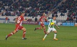 Juan Quero from match league Cordoba vs Girona Royalty Free Stock Image