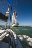 Juan Sebastian Elcano żeglowanie w zatoce Cadiz, Hiszpania Zdjęcie Stock