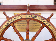Juan Sebastian Elcano helm Royalty Free Stock Image