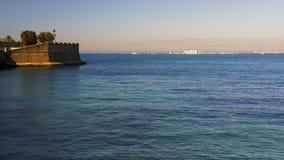 Juan Sebastian Elcano Port du départ de Cadix photos stock
