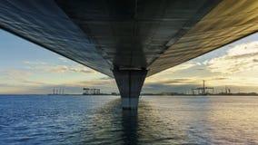 Juan Sebastian Elcano Under 1812 Constitution Bridge Cadiz Spain stock images