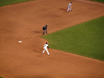 Juan Uribe takes lead from 2nd base Royalty Free Stock Images