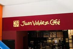 Juan Valdez Café coffee shoptecken Colombianskt kaffe, traditionell affär arkivfoto