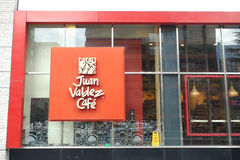 Juan Valdez Cafe. A Juan Valdez Cafe in Santiago, Chile. Juan Valdez is an international coffee chain with more than 200 locations Royalty Free Stock Image