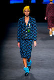 Juana Burga (model) walks the runway for the Naulover collection Stock Photography