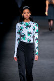 Juana Burga (model) walks the runway for the Page collection Stock Photography