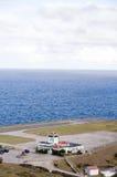 Juancho E. Yrausquin Airport Saba Stock Images
