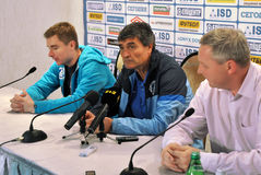 Juande Ramos the post-match press conference Stock Photo