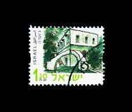 Juara, Historical sites serie, circa 2001. MOSCOW, RUSSIA - NOVEMBER 26, 2017: A stamp printed in Israel shows Juara, Historical sites serie, circa 2001 royalty free stock image