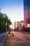 Juarez Avenue in morning sunlight Stock Image