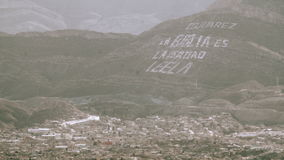 Juarez Mexico Hillside. Wide shot overlooking Mexico hillsides and a border town stock video footage