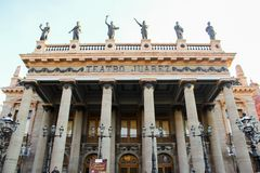 Juarez Theater, Guanajuato, Mexiko lizenzfreies stockbild