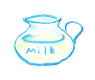 Jub of milk illustration Stock Images
