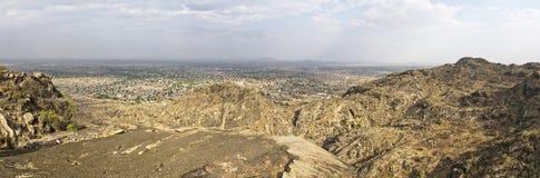Juba södra Sudan, brett panorama- beskådar Arkivbild