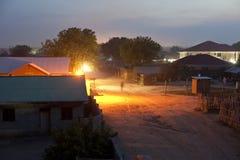 Juba, Sudan at night Stock Photography