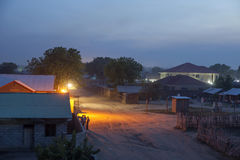Juba, Zuid-Soedan bij nacht Stock Foto's