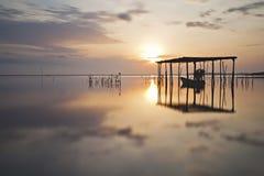 Jubakar wschodu słońca odbicie Fotografia Royalty Free