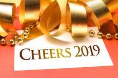Jubelår 2019 med deroration royaltyfria foton
