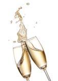 Jubel med champagner royaltyfri foto