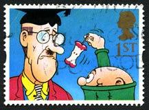 Jubel ulica Żartuje UK znaczek pocztowego zdjęcia stock