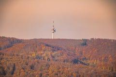 Jubiläumswarte - observationstorn - bana, Wien, Österrike Royaltyfri Foto