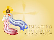 Jubiläum des Hintergrundes des Gnaden-heiligen Jahres Stockbild
